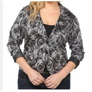 Torrid Floral Black/Grey Blazer Size 1
